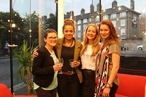 From the left: Gold winners Helen Wood and Rachel Matovu from H=K Strategies. Silver winners Amy O'Connor and Kirstyn Wood from Ketchum